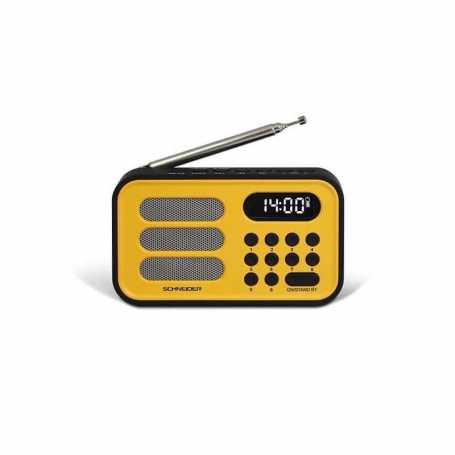 RADIO REVEIL HANDY MINI SCHNEIDER SC150ACL JAUNE