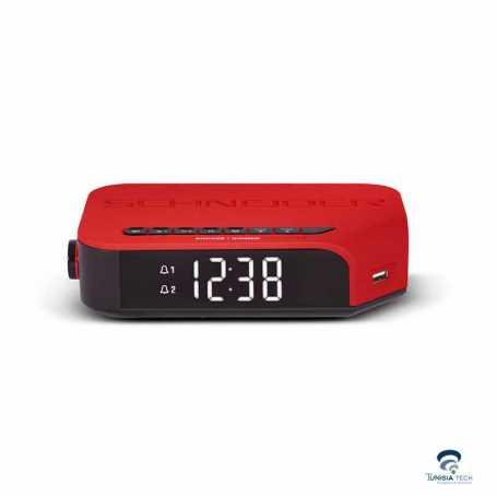 RADIO REVEIL VIVA Schneider 310ACL Rouge
