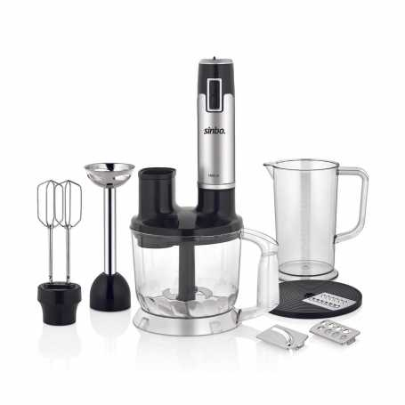Set Multi Mixeur Sinbo 3114 Inox-Noir