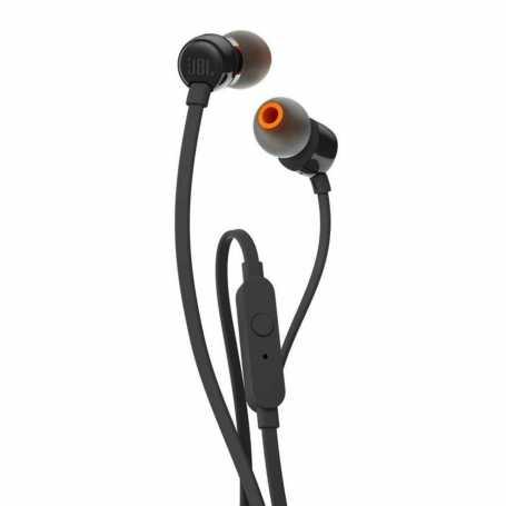 Écouteurs JBL T110 filaires intra-auriculaires avec micro - Noir