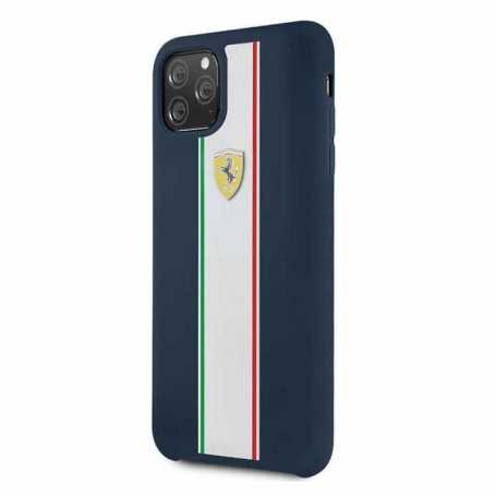 Coque Ferrari ON TRACK & STRIPES Pour Iphone 11 Pro-Navy