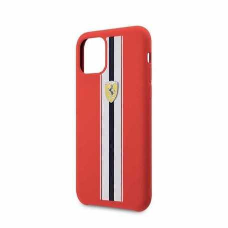 Coque Ferrari ON TRACK & STRIPES Pour Iphone 11 Pro-Rouge