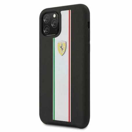 Coque Ferrari ON TRACK & STRIPES Pour Iphone 11 Pro Max-Noir