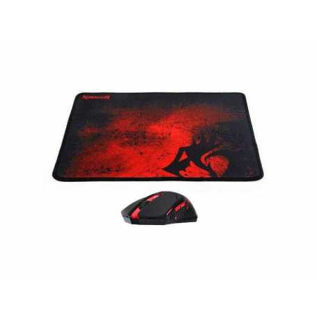 Pack Tapis Souris Sans Fil Gaming REDRAGON M601-WL-BA
