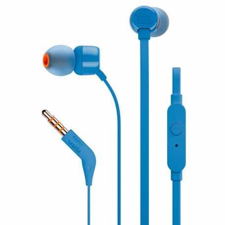 Écouteurs JBL T110 filaires intra-auriculaires avec micro - blue