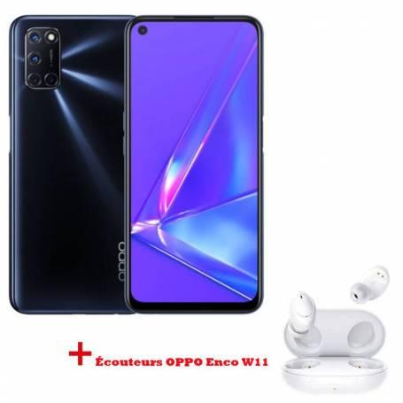 Pack Smartphone OPPO A92 Noir + Écouteurs OPPO Enco W11