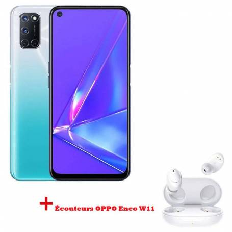 Pack Smartphone OPPO A92 Blanc + Écouteurs OPPO Enco W11