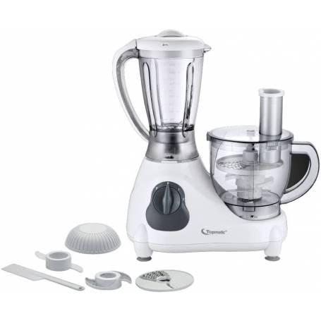 Robot de cuisine 1,5 L Topmatic Tunisie FP-800 Blanc