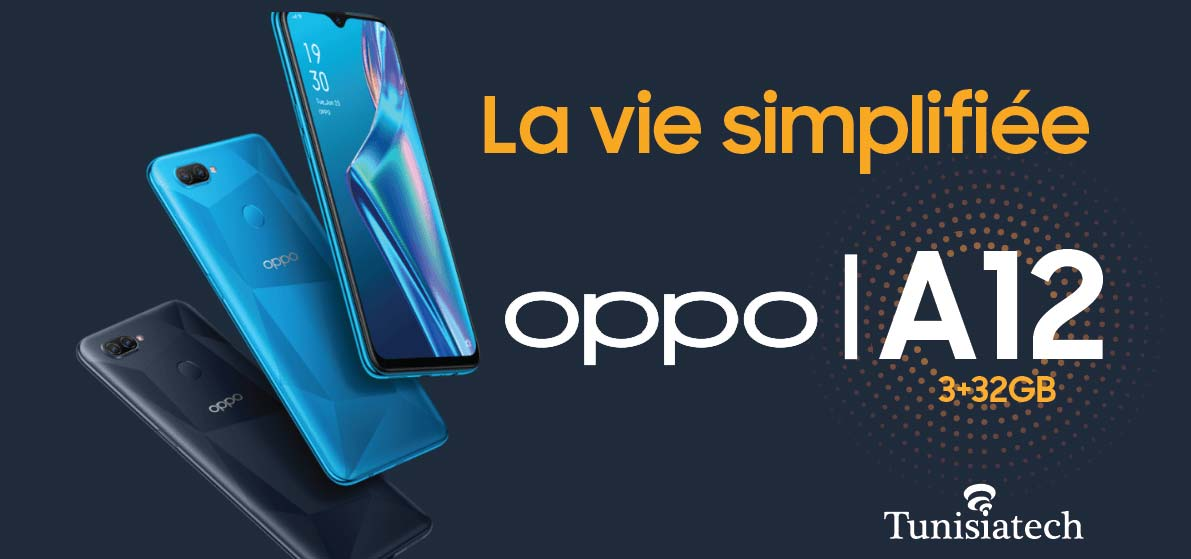 OPPO A12 en Tunisie à bas prix chez tunisiatech
